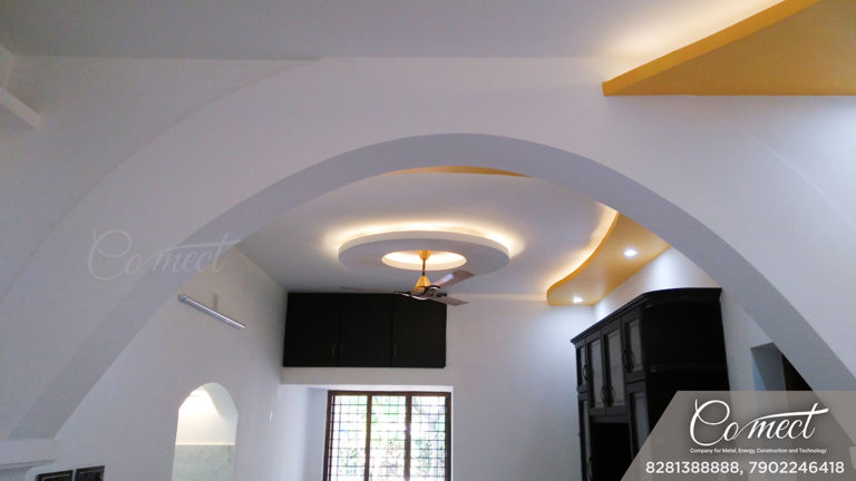Gypsum ceiling design with ambient lighting